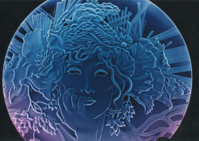 Custom Glass Etched Woman