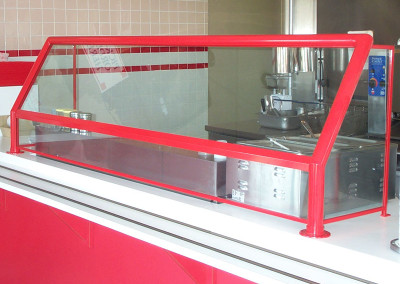 Red Powder Coated